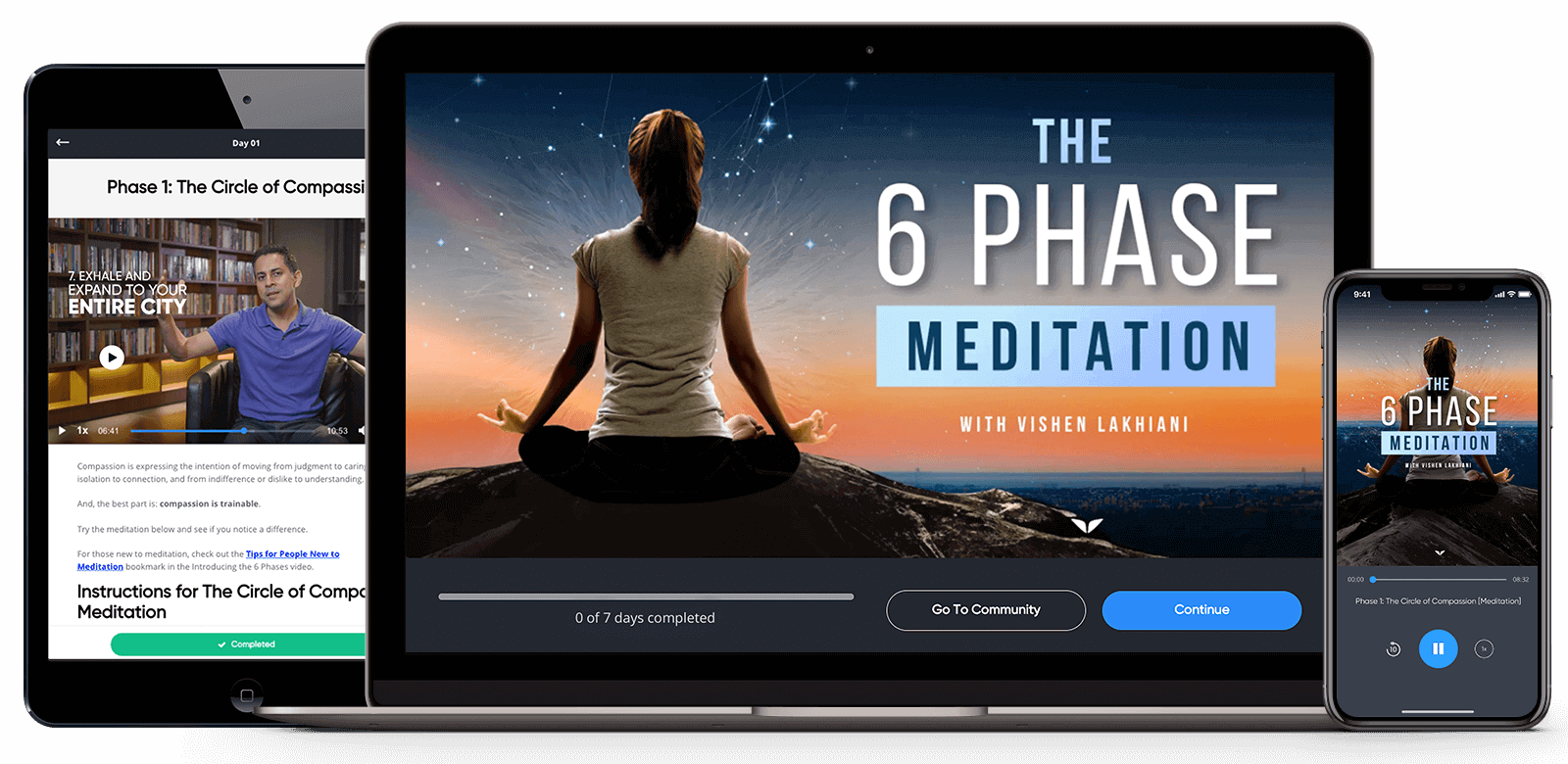100 Pictures of 6 Phase Meditation Audio